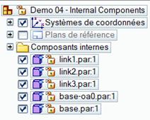 Composants internes dans un assemblage exporté (Nouveauté Assemblage Solid Edge 2021)