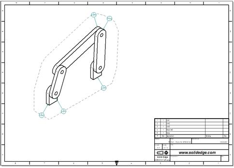 Mise en plan d'un assemblage avec des composants internes